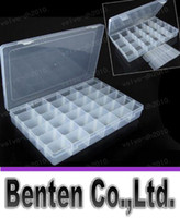 Wholesale 24 Grid Space Plastic Adjustable Jewelry Bead Organizer Box Storage Container Case Bigger cm LLFA5939