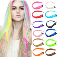 Wholesale 12pcs Hot selling Straight cosplay party color hair extensions size cm Colors AP09