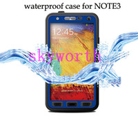 For Samsung Leather White Waterproof Redpepper case for Samsung Galaxy Note 3 Note3 N9000 N9005 Water Snow Dirt Shock Proof Cover w  Retail Package