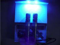 purple No No 10000mW 10w 405nm high powered focusable violet blue laser pointer UV Purple laser torch Burn Matches & Light Cigarettes