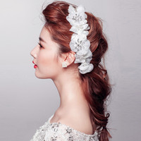 Fascinators Silk Flower  Crystal Rhinestones Flowers Bridal Tiaras Girls' Hair Accessories Crowns Headdress for Bride Wedding 2014
