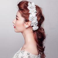 Fascinators Silk Flower  Crystal Rhinestones Flowers Bridal Tiaras Girls' Hair Accessories Crowns Headdress for Bride Wedding 2014