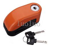 Wholesale 6mm Security Motorcycle Motorbike Sturdy Wheel Disc Brake Lock Safety Alarm key New