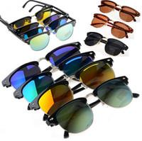 Resin Lenses avaitor sunglasses - 1 pc Unisex hot Popular Classic Retro Avaitor Gold Plate Mirrored Sunglasses Glasses JA04003