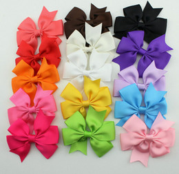 Nice Girls Baby Ribbon Bows with Clips Children Grosgrain Bowknot Hair clips Girls Kids Hair Accessories