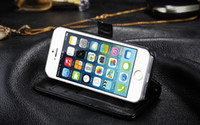 For Apple iPhone Leather White Wallet Credit Card sheepskin stand PU Leather Case Cover Pouch For iphone 5 5G 5th 300pcs 200pcs