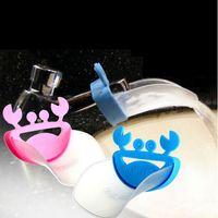 Wholesale Cute child cartoon extending sink crab shape baby extending faucet kids hand washing water chute