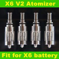 achat en gros de x6 kts e cig-Cigarette X6 V2 atomiseur électronique E-cigarette reconstructible Clearomizer Costume Pour KTS K100 K101 X6 E-cig en acier inoxydable pour les gros