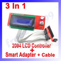 FZ0507 Guangdong, China (Mainland) 2004 LCD Controller Module 3pcs lot 3 in 1 2004 LCD Controller Module + Smart Adapter + 2pcs Dupond Cable Grey Wire for 3d Printer FZ0507 Free Shipping