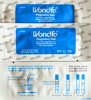 Wholesale 30pcs wondfo Ovulation LH One Step Test Strip Pregnancy HCG Test Strip with test cup