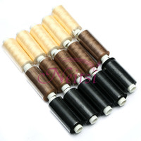 Wholesale Promotion Brown Polyester Sew Thread Color for Choose Accessories for Hair Products