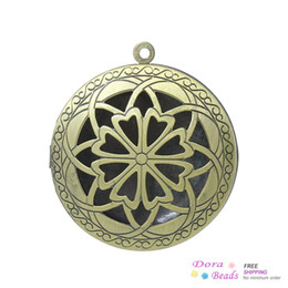 Wholesale Frame Pendants Picture Photo Locket Round Antique Bronze Cabochon Setting cm x cm B34433