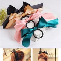 Wholesale 2014 New Hair Accessories Ribbon Bowknot Elastic Hair Band Womens