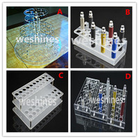 Acrylic display shelf  display cases - 1pcs sale Acrylic display case electronic cigarette stand shelf holder display rack for e cig ego battery vaporizer ecig e liquid bottles