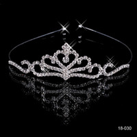 prom hair accessories - In Stock Cheap Popular Beautiful Hair Accessories Comb Crystal Rhinestone Bridal Wedding Prom Party Girls Tiara Shinning