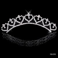 Wholesale New Shining Rhinestone Crown Most Popular Alloy Shining Crown Wedding Prom Party Girls Bride Tiaras Fashion Crowns