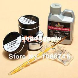 Wholesale New Professional ml Acrylic Liquid Powder Pen Deppen Dish Nail Art Tips Design Set Kit nails amp tools
