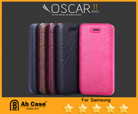 Wholesale KLD Oscar II leather flip cell phone cases for samsung galaxy S5 S4 S3 Model Post