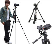 Wholesale 153CM Extend Professional D Digital Camera Tripod Video Record Machine Cradle Head Stands Holder Flexible Photography Tripus