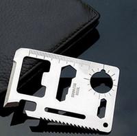Hacksaw Steel Camping Knife 2pcs lot Pocket saber Credit Card Knife Outdoor Survival Hunting Camping Multifunctional Tool