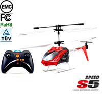 Wholesale Syma S5 CH RC Remote Control Helicopter Toys with Gryo Searching Light Red RM331