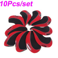 golf club set - Set of Red Neoprene Golf Club Head Cover Wedge Iron Protective Headcovers Wedges H10313