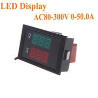 Wholesale Digital LED Voltage Meter Ammeter Voltmeter with Current Transformer AC80 V A Dual Display H10362