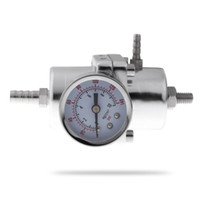 fuel pressure gauge adjustable pressure regulator - Universal Car Adjustable PSI Oil Fuel Pressure Gauge Regulator with Gauge Silver K1023