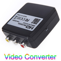 Wholesale FLYKAN Mini HDMI to AV CVBS Converter Video Adapter Box PAL NTSC HD P Connector V550