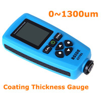 Wholesale Digital Paint Coating thickness gauge Meter um F mils um Resolution Graphical Menu USB Auto F FN Probe Tester H10273