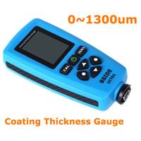 Wholesale Digital Paint Coating thickness gauge Meter um F mils um Resolution Graphical Menu USB Auto F FN Probe Tester H10273