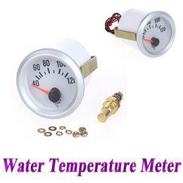 Wholesale 12V Car Water Temperature Meter Gauge with Sensor for Auto Car quot mm Celsius Degree Blue LED Light K1070