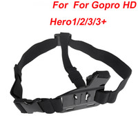 Wholesale 2014 Chest Shoulder Strap Mount Harness Points for Gopro HD Hero1 Sport Camera Black ST D1017