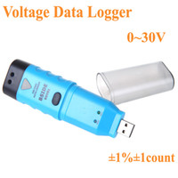 Wholesale Mini USB DC Voltage Data Logger Recorder LED Alarm V car voltmeter ammeter tester volt meter detector H10257