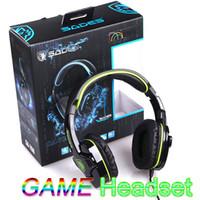 Sades SA-708 Gioco Auricolare Cuffie con Microfono per PC Gaming Verde V573GR