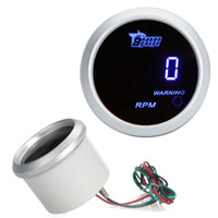 Wholesale Tach Digital Tachometer Gauge for Auto Car mm in LCD RPM Warning Light Silver K975S