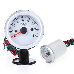 Wholesale Auto Vehicle Tachometer Tach Gauge with Holder Cup for Auto Car quot mm RPM Blue LED Light K1069