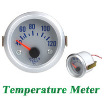Wholesale Water Temperature Meter Gauge with Sensor for Auto Car quot mm Celsius Degree Orange Light K1039
