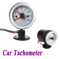 Wholesale Tachometer Tach Gauge with Holder Cup for Auto Car quot mm RPM blue Light K1038