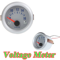 Wholesale Voltage Meter Gauge Voltmeter for Auto Car quot mm V Orange Light K1037