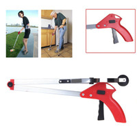 Wholesale Foldable Pick Up Grabber Long Arm Gripper Reacher Kitchen Litter Picker hand gripper Help Hand Tool Red Blue trash picker H9142