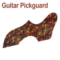 Wholesale Acoustic Guitar Pickguard Self adhesive PVC Anti Scratch Guitar Parts Brown Shell I188