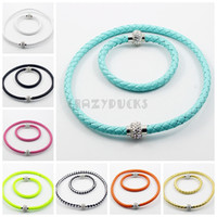 Bracelet & Necklace magnetic fashion - 2014 Fashion Rhinestones Bracelet Pu Leather Crystal Magnetic buckle Necklace amp Bangle Colors In Stock
