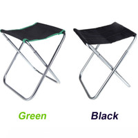 Aluminum camping chairs - 2 Colors Portable Fish Folding Chair Outdoor Camping Fishing Chair Aluminum Oxford Cloth Cadeira with Carry Bag H10203