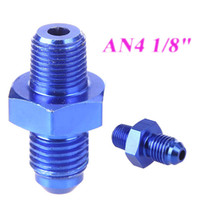 Wholesale AN4 to quot NPT Oil Fuel Tube Pipe Adapter Thread Swivel Adapter Aluminum Blue K1003BL