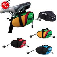 2014 Roswheel Outdoor Ciclismo Mountain Bike sella della bicicletta Borse sedile posteriore della coda Pouch pacchetto rilascio rapido nero / verde / blu / rosso H8610