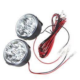 Wholesale 2Pcs Universal Vehicle Car Daytime Running Light Bulb DRL Car Fog Light Lamp Led Day Driving Lamps White LED Round K803