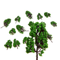 Wholesale 16pcs HO Z Scale Model Trees for Railroad House Park Street Layout X Green T185