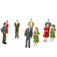 Figuras de la gente modelo Baratos-NUEVOS 100pcs O Escala 1:50 Mix Pintado Modelo Personas tren Park Street cifras de pasajeros T188
