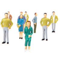 Wholesale 20pcs G Scale Mix Painted Model People Train Park Street Passenger Figures T190